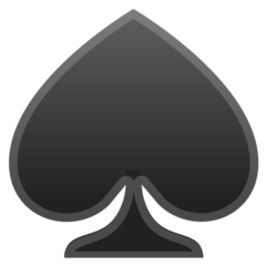 Black Spade Suit google emoji