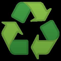Black Universal Recycling Symbol google emoji