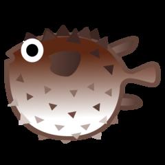 Blowfish google emoji
