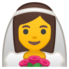 Bride With Veil google emoji