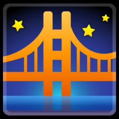 Bridge At Night google emoji