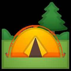 Camping google emoji