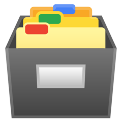 Card File Box google emoji