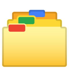 Card Index Dividers google emoji
