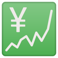 Chart With Upwards Trend And Yen Sign google emoji
