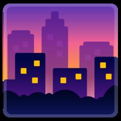 Cityscape At Dusk google emoji