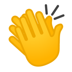 Clapping Hands Sign google emoji