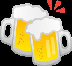 Clinking Beer Mugs google emoji