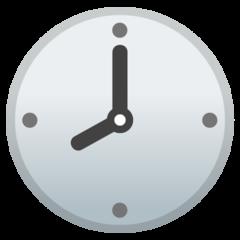 Clock Face Eight Oclock google emoji