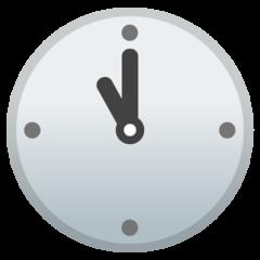 Clock Face Eleven Oclock google emoji