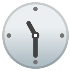 Clock Face Eleven-thirty google emoji