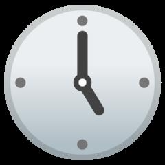 Clock Face Five Oclock google emoji