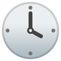 Clock Face Four Oclock google emoji