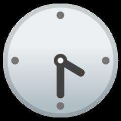 Clock Face Four-thirty google emoji