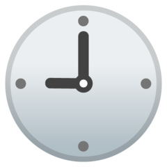 Clock Face Nine Oclock google emoji