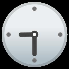 Clock Face Nine-thirty google emoji