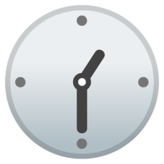 Clock Face One-thirty google emoji