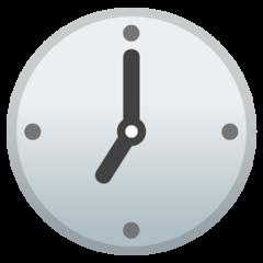 Clock Face Seven Oclock google emoji