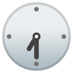 Clock Face Seven-thirty google emoji