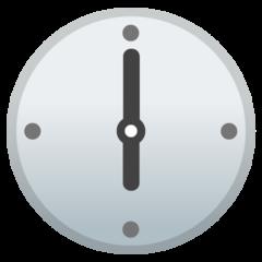 Clock Face Six Oclock google emoji
