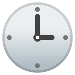 Clock Face Three Oclock google emoji