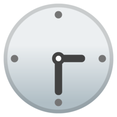 Clock Face Three-thirty google emoji