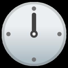 Clock Face Twelve Oclock google emoji