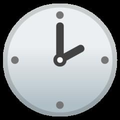 Clock Face Two Oclock google emoji