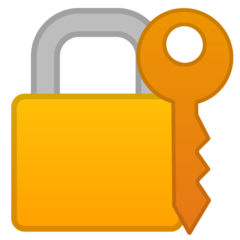 Closed Lock With Key google emoji