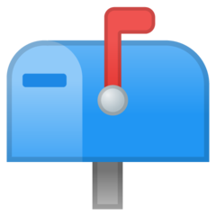 Closed Mailbox With Raised Flag google emoji