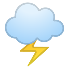 Cloud With Lightning google emoji