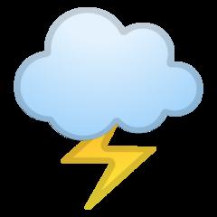 Cloud With Lightning google emoji