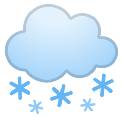 Cloud With Snow google emoji