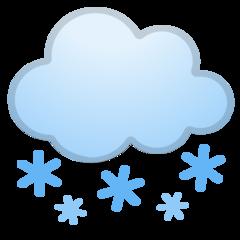 Cloud With Snow google emoji