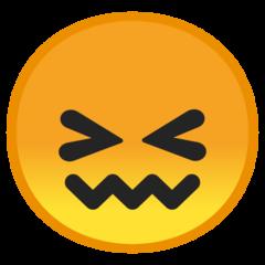Confounded Face google emoji