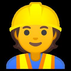 Construction Worker google emoji