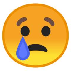 Crying Face google emoji