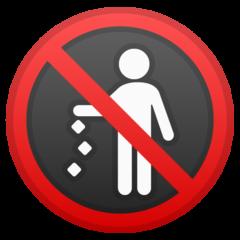 Do Not Litter Symbol google emoji