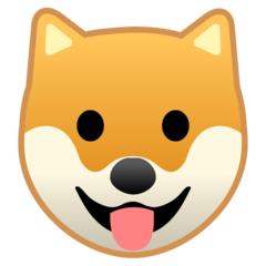 Dog Face google emoji