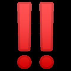 Double Exclamation Mark google emoji
