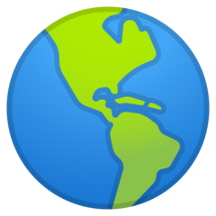 Earth Globe Americas google emoji
