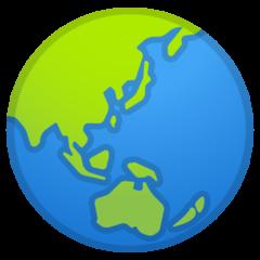 Earth Globe Asia-australia google emoji