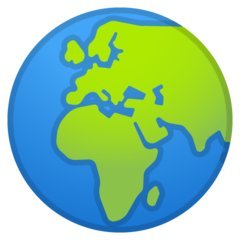 Earth Globe Europe-africa google emoji