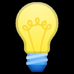 Electric Light Bulb google emoji