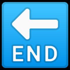 End With Leftwards Arrow Above google emoji