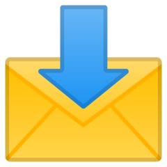 Envelope With Downwards Arrow Above google emoji