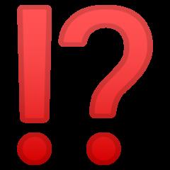Exclamation Question Mark google emoji