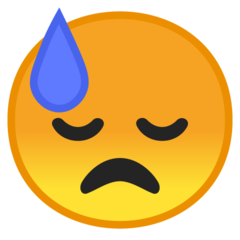 Face With Cold Sweat google emoji