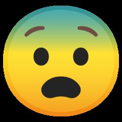 Fearful Face google emoji