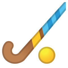 Field Hockey Stick And Ball google emoji